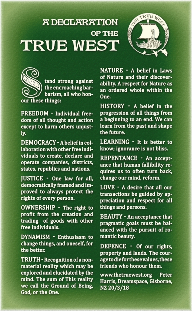 declaration as if printed with green