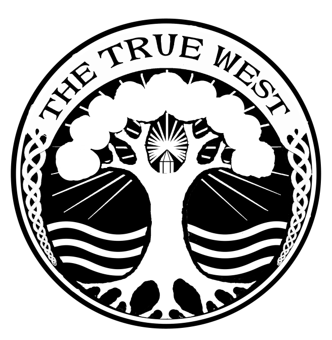 THETRUEWEST logo tree and celtic moon copy